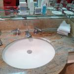 The sink and toiletries