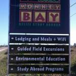 Monkey Bay Highway Sign