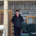 Standing in front of our cabin