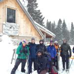 Our AMC group in front of the Little Lyford Lodge
