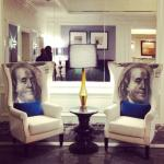 Lobby - Ben Franklin chairs!