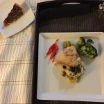 Meal from Madison Bar & Bistro in the lobby