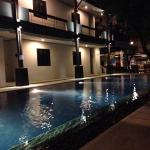 Poolside at night. Pool is open until 9pm