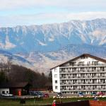 Piatra Craiului mountain pictured from our room