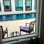 Rooms 5 metres from pool !