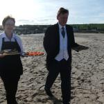Durn house canapes on the beach