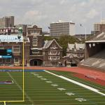 View of hotel from Franklin Field