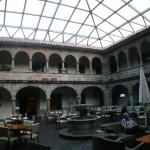 Colonial era courtyard that serves as the hotel lobby