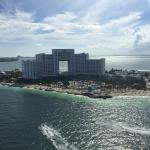 View of hotel from Parasailing