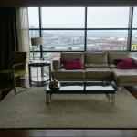 The sitting room area in the suite