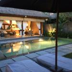 Our beautiful villa in the evening