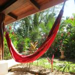 Hammock outside each room