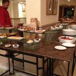 Desserts and Salads in the Bougainvillaea Restaurant