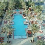 View of the pool from the 7th floor