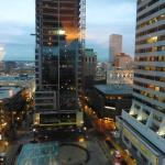 View of downtown Portland from our room