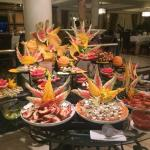 Gala buffet, Lobster and massive prawns !!