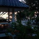 Couples Bungalow view to the beach at sunset