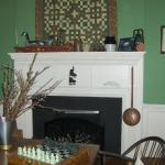 Fireplace in the Game Room