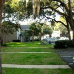 Area in front of unit.  Ocean Walk has beautiful grounds.  We enjoyed the playground with our gr