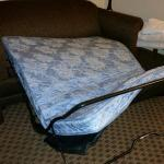 This was the 2nd bed in our room. Completely fell apart. All springs broken and mattress was wor