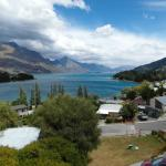 View from the room overlooking Lake Wakatipu