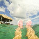 Snorkelling from the palapa
