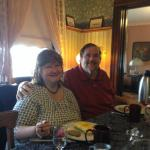 Sally and Dr. Jim enjoying our gourmet breakfast