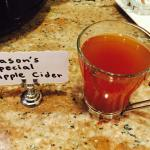 Apple cider in the dining area. This was amazing!