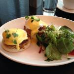 Crab Cake Eggs Benedict at Sable