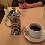 French Press coffee after dinner