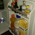 mini bar in room