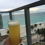 Mimosa's on the balcony