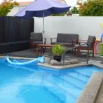 Heated out door swimming pool