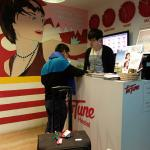 Hostel Lobby and Mr. Youngmin