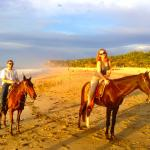 Earl snapped this photo when he saw us on our sunset horseback ride.