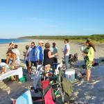 Meeting Friends for on the Beach at Bunker Bay