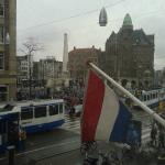 View from the window of Dam Square