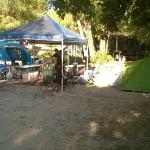 Our shady camp site
