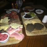 Irish meat and cheese platter. Yummy.