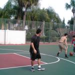 PLAYING BASKETBALL!!