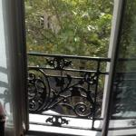 View out the window at Hotel La Bourdonnais
