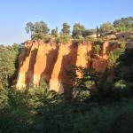 the red cliffs of rousillon