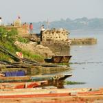 Panoramic view of Narmada river from Hotel