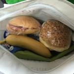 Breakfast to go. A days food for me, very pleasing!