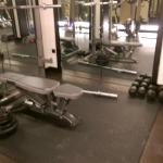 Weights area in the gym
