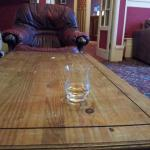 A view of my whisky in the reception area, notice the fitting vacuum cleaner at the left :-\