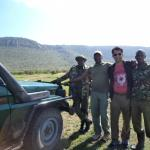 Rhino sanctuary with our driver