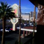 View from 2nd floor hotel room towards Koval and Flamingo.