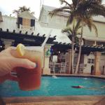 Drinks by the pool at the Southernmost Hotel in Key West