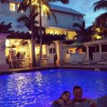Night swimming at the Southernmost Hotel in Key West